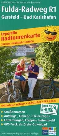 Radwanderkarte Fulda-Radweg, Gersfeld - Bad Karlshafen 1 : 50 000, Diverse