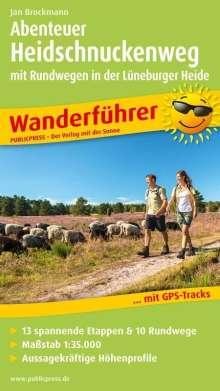 Jan Brockmann: Abenteuer Heidschnuckenweg mit Rundwegen in der Lüneburger Heide, Buch