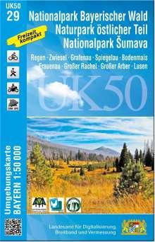 Nationalpark Bayerischer Wald, Naturpark östlicher Teil, Nationalpark Sumava 1:50 000 (UK50-29), Diverse