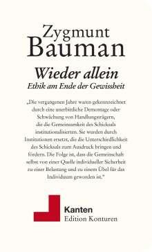 Zygmunt Bauman: Wieder allein, Buch