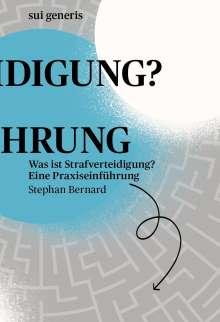 Stephan Bernard: Was ist Strafverteidigung?, Buch