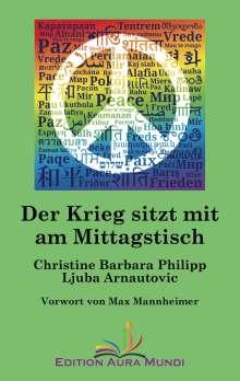 Christine Barbara Philipp: Der Krieg sitzt mit am Mittagstisch, Buch