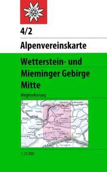 DAV Alpenvereinskarte 04/2 Wetterstein Mieminger Gebirge Mitte 1 : 25 000 Wegmarkierungen, Diverse