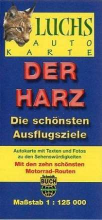Luchskarte Der Harz 1 : 125 000, Diverse