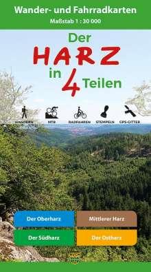Der Harz in 4 Teilen. Kartenset 1 : 30 000, Diverse