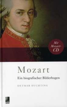 Wolfgang Amadeus Mozart (1756-1791): Wolfgang Amadeus Mozart - Ein biografischer Bilderbogen (CD + Buch), 2 CDs