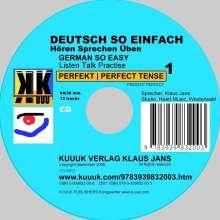 Klaus Jans: Deutsch So Einfach - Hören Sprechen Üben 1 - German So Easy - Talk Listen Practise 1, CD