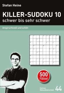 KILLER-SUDOKU 10 - schwer bis sehr schwer, Buch