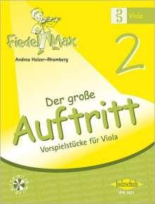 Andrea Holzer-Rhomberg: Fiedel-Max für Viola  - Der große Auftritt Band 2, Noten