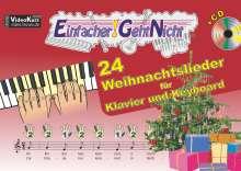Martin Leuchtner: Einfacher!-Geht-Nicht: 24 Weihnachtslieder für Klavier und Keyboard mit CD, Buch