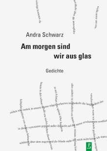 Andra Schwarz: Am morgen sind wir aus glas, Buch
