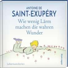 Antoine de Saint-Exupéry: Wie wenig Lärm machen die wahren Wunder, Buch