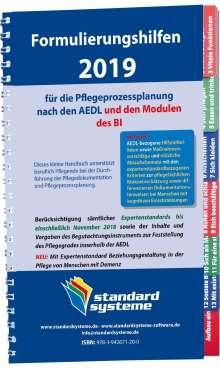 Formulierungshilfen 2019 für die Pflegeprozessplanung nach den AEDL, Buch
