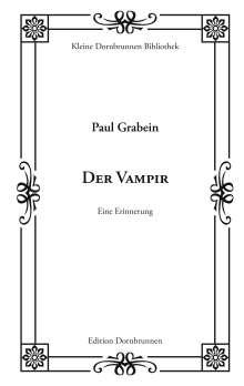 Paul Grabein: Der Vampir, Buch