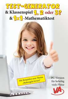 Veronika Aretz: Test-Generator, Klassenspiel & 1x1-Mathetest, CD-ROM