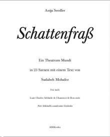 Anija Seedler: Anija Seedler: Schattenfraß, Buch