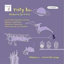Vicky Bo: Malbuch Sachen für Jungs. Ab 5 bis 12 Jahre, Buch
