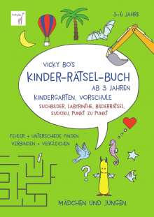 Vicky Bo: Vicky Bo's Kinder-Rätsel-Buch ab 3 Jahren, Buch