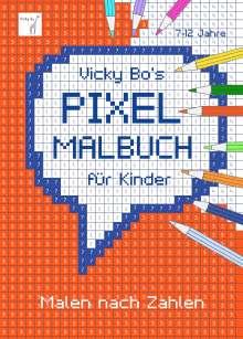 Vicky Bo: PIXEL-Malbuch für Kinder. Malen nach Zahlen. 7-12 Jahre, Buch