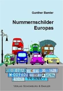 Gunther Bamler: Nummernschilder Europas, Buch