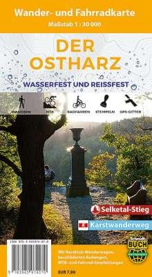 Der Ostharz Wander- und Fahrradkarte 1 : 30 000, Diverse