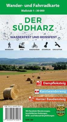 Der Südharz Wander- und Fahrradkarte 1 : 30 000, Diverse