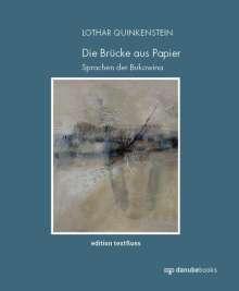 Lothar Quinkenstein: Die Brücke aus Papier, Buch