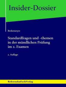 Michael Berkemeyer: Standardfragen und -themen in der mündlichen Prüfung im 2. Examen, Buch