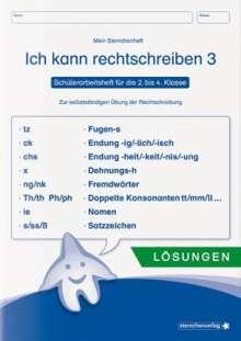 Katrin Langhans: Ich kann rechtschreiben 3 - Lösungen - Schülerarbeitsheft für die 2. bis 4. Klasse, Buch