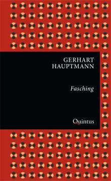 Gerhart Hauptmann: Fasching, Buch