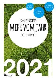 Vitus Marx: Terminkalender 2021: Mehr vom Jahr - für mich, Buch