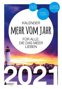 Vitus Marx: Terminkalender 2021: Mehr vom Jahr - für alle, die das Meer lieben, Buch