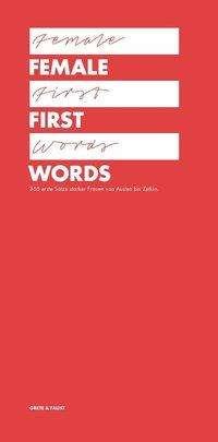 Ralph Burkhardt: Female First Words, Buch