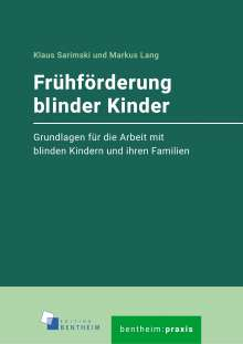 Klaus Sarimski: Frühförderung blinder Kinder, Buch