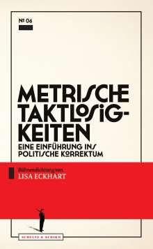 Lisa Eckhart: Metrische Taktlosigkeiten, Buch