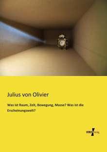 Julius Von Olivier: Was ist Raum, Zeit, Bewegung, Masse? Was ist die Erscheinungswelt?, Buch