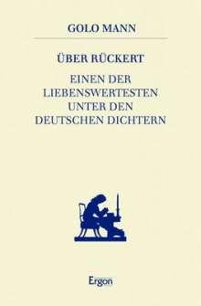 Golo Mann: Über Rückert, Buch
