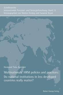 Desmond Tutu Ayentimi: Multinationals' HRM policies and practices, Buch