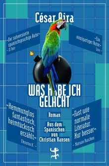 César Aira: Was habe ich gelacht, Buch