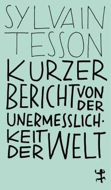 Sylvain Tesson: Kurzer Bericht von der Unermesslichkeit der Welt, Buch