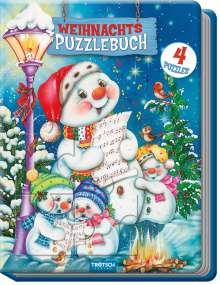 Weihnachtspuzzlebuch Schneemann Spielbuch mit Geschichten, Buch