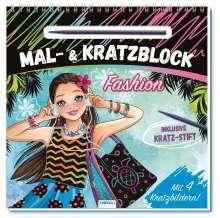 """Mal- und Kratzblock """"Fashion"""", Buch"""