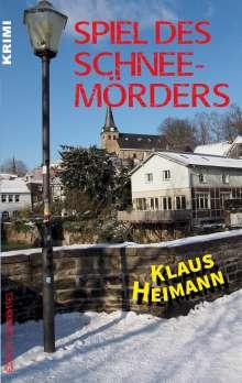 Klaus Heimann: Spiel des Schneemörders, Buch