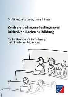 Olaf Hoos: Zentrale Gelingensbedingungen inklusiver Hochschulbildung für Studierende mit Behinderung und chronischer Erkrankung, Buch