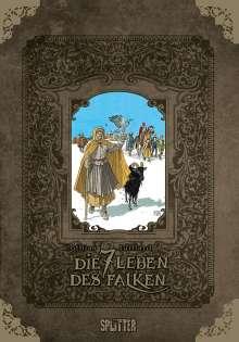 Patrick Cothias: Die sieben Leben des Falken - erster Zyklus (limitierte Sonderedition), Buch