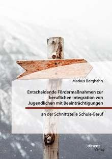 Markus Berghahn: Entscheidende Fördermaßnahmen zur beruflichen Integration von Jugendlichen mit Beeinträchtigungen an der Schnittstelle Schule-Beruf, Buch