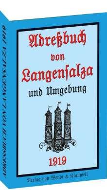 Adreßbuch / Einwohnerbuch der Stadt Langensalza 1919, Buch