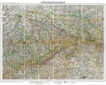 A. Herrich: Historische Karte: Königreich SACHSEN im Deutschen Reich - um 1905 [gerollt], Diverse