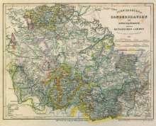 Radefeld Major: Historische Karte: Fürstentum Schwarzburg-Sondershausen und Fürstentum Schwarzburg-Rudolstadt nebst den Reussischen Landen 1851 [gerollt], Diverse
