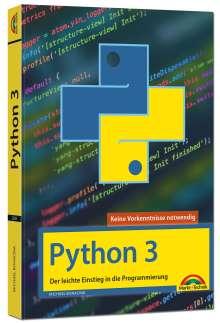 Michael Bonacina: Python 3 Programmieren lernen und anwenden, Buch